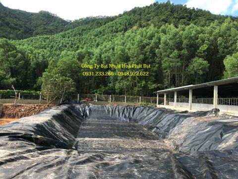 Báo giá bán lẻ màng bạt nhựa chống thấm HDPE màu xanh đen lót ao hồ bờ ao chứa nước giá rẻ tại Hà Giang