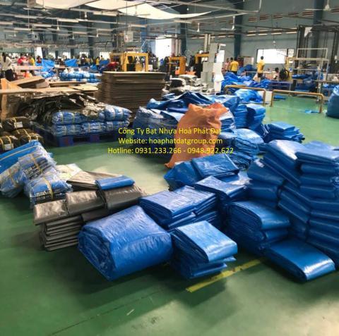 Báo giá bạt nhựa xanh cam 2 da khổ 4m*50m – 30kg