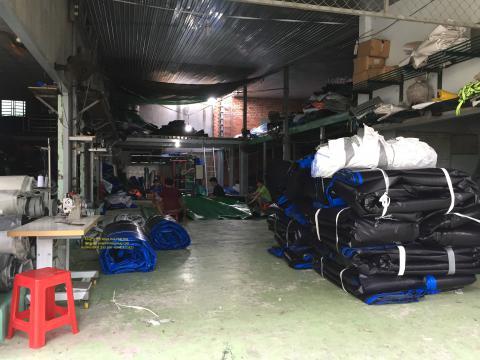Báo giá bạt nhựa xanh cam 2 da khổ 8m*50m – 68kg