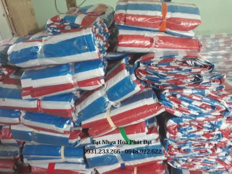 Báo giá bạt nhựa kẻ sọc 3 màu khổ 4m*50m – 12kg