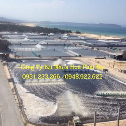 Báo giá bán lẻ màng bạt nhựa chống thấm HDPE màu xanh đen lót ao hồ bờ ao chứa nước giá rẻ tại Tp Bến Tre
