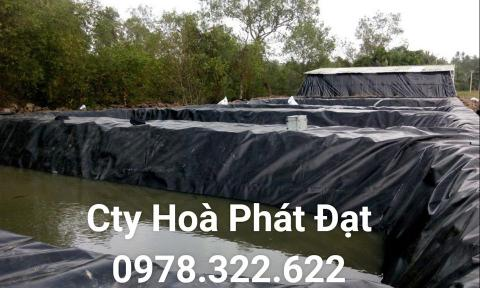Báo giá bán lẻ màng bạt nhựa chống thấm HDPE màu xanh đen lót ao hồ bờ ao chứa nước giá rẻ tại Quảng Ninh
