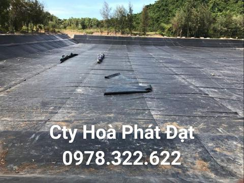 Báo giá bán lẻ màng bạt nhựa chống thấm HDPE màu xanh đen lót ao hồ bờ ao chứa nước giá rẻ tại Thái Nguyên