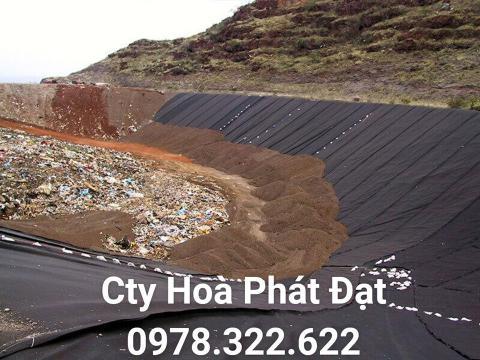 Báo giá bán lẻ màng bạt nhựa chống thấm HDPE màu xanh đen lót ao hồ bờ ao chứa nước giá rẻ tại Cao Bằng