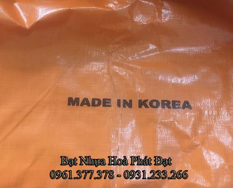 Bảng giá bạt nhựa xanh cam, bạt sọc 3 màu, bạt che công trình xây dựng che nắng mưa ngoài trời giá rẻ tại Điện Biên Phủ
