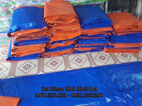 Bảng giá bạt nhựa xanh cam, bạt sọc 3 màu, bạt che công trình xây dựng che nắng mưa ngoài trời giá rẻ tại Hà Nội