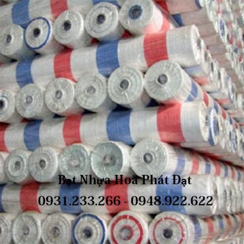 Báo giá bạt nhựa kẻ sọc 3 màu khổ 6m*50m – 18,5kg