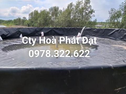 Báo giá bán lẻ màng bạt nhựa chống thấm HDPE màu xanh đen lót ao hồ bờ ao chứa nước giá rẻ tại Pleiku Gia Lai