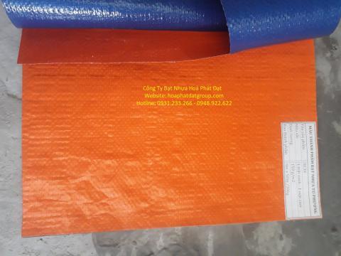 Báo giá bạt nhựa xanh cam 2 da khổ 8m*50m – 60kg