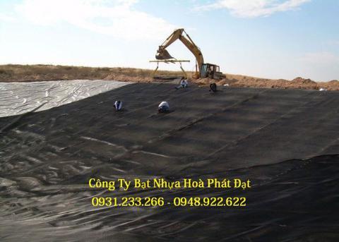 Báo giá bán lẻ màng bạt nhựa chống thấm HDPE màu xanh đen lót ao hồ bờ ao chứa nước giá rẻ tại Hải Dương
