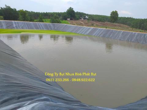 Báo giá bán lẻ màng bạt nhựa chống thấm HDPE màu xanh đen lót ao hồ bờ ao chứa nước giá rẻ tại Hoà Bình