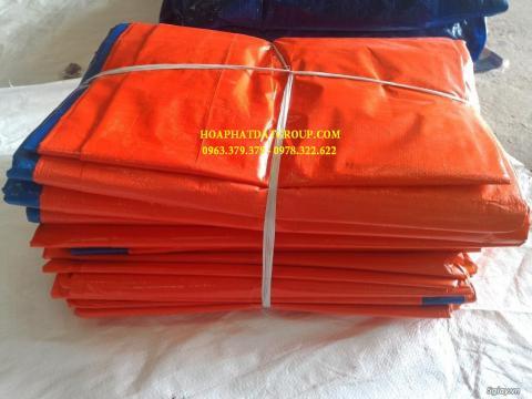 Báo giá bạt nhựa xanh cam 2 da khổ 8m*50m – 80kg