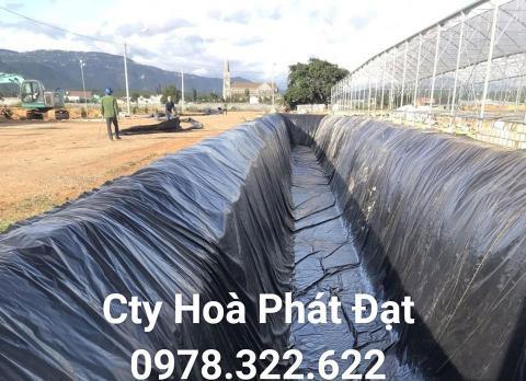 Báo giá bán lẻ màng bạt nhựa chống thấm HDPE màu xanh đen lót ao hồ bờ ao chứa nước giá rẻ tại Lạng Sơn