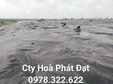 Báo giá bán lẻ màng bạt nhựa chống thấm HDPE màu xanh đen lót ao hồ bờ ao chứa nước giá rẻ tại Rạch Giá Kiên Giang
