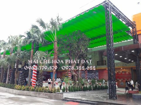 Hình ảnh : sản phẩm mái che bạt xếp di động quán cafe đẹp chất lượng Hòa Phát Đạt