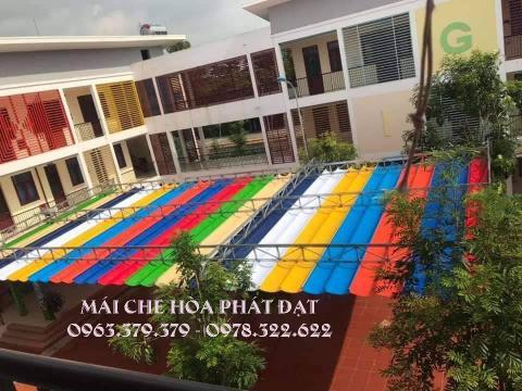 Hình ảnh: sản phẩm bạt che nắng cho sân trường học