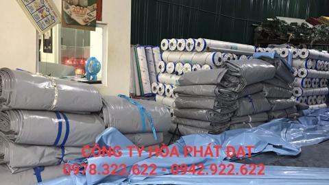 Hình ảnh : sản phẩm vải bạt mái xếp mái hiên che lượn sóng Hòa Phát Đạt