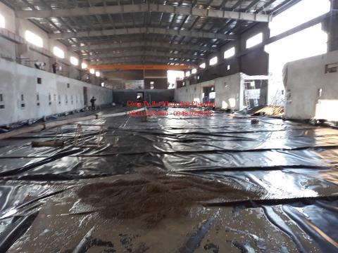 Báo giá bán lẻ màng bạt nhựa chống thấm HDPE màu xanh đen lót ao hồ bờ ao chứa nước giá rẻ tại Vinh Nghệ An