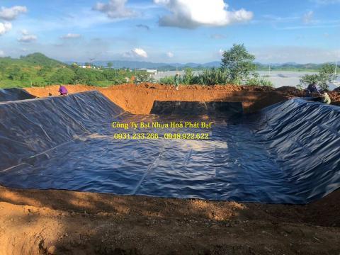 Báo giá bán lẻ màng bạt nhựa chống thấm HDPE màu xanh đen lót ao hồ bờ ao chứa nước giá rẻ tại Ninh Bình