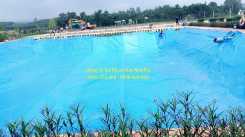Báo giá bạt chống thấm HDPE màu xanh lót hồ bơi, bể chứa nước.