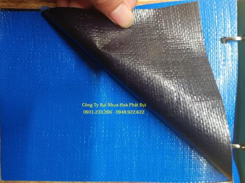 Báo giá bạt nhựa xanh cam 2 da khổ 4m*50m – 24kg