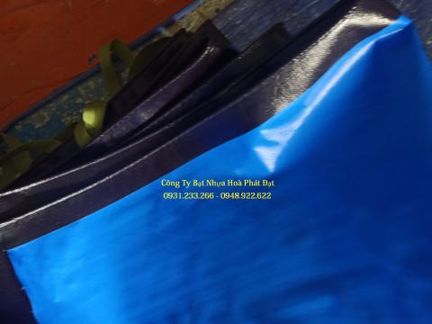 Báo giá bạt nhựa che phủ xanh dương xanh tím khổ 6m*50m – 75kg