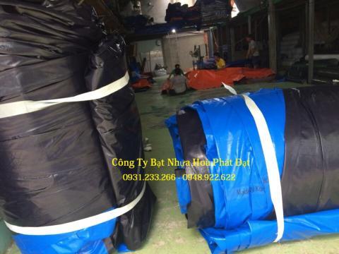 Báo giá bạt nhựa xanh cam 2 da khổ 6m*50m – 36kg