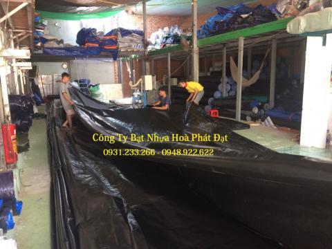 Báo giá bạt nhựa che phủ xanh rêu xanh tím khổ 6m*50m – 75kg
