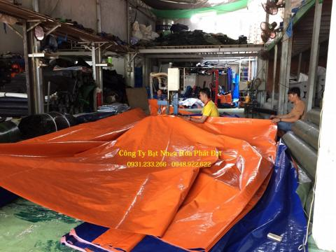 Báo giá bạt nhựa xanh cam 2 da khổ 2m*100m – 34kg