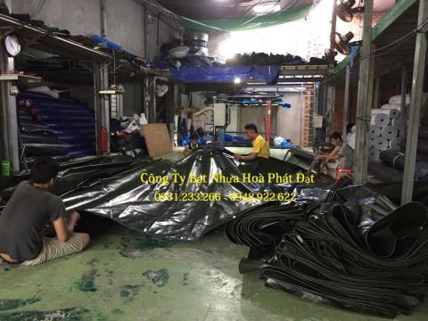 Báo giá bạt nhựa che phủ xanh rêu xanh tím khổ 8m*50m – 100kg