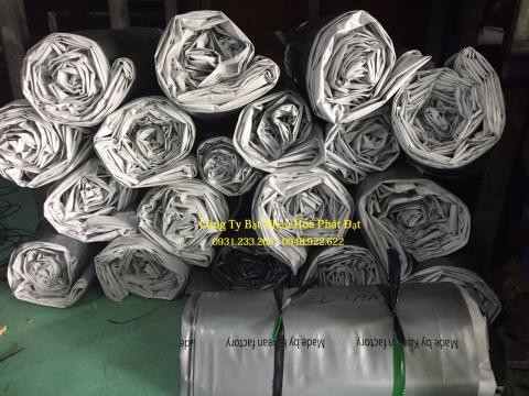 Báo giá bạt nhựa che phủ trắng bạc khổ 6m*50m – 75kg